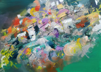 Abstract morning 60x80cm