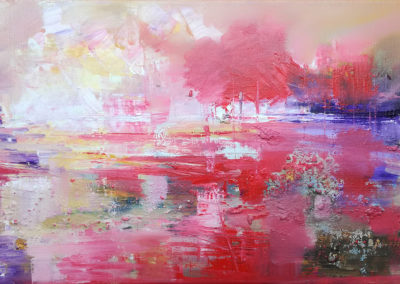 Abstract sunset 30x55cm