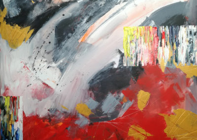 Black and red 80x60cm