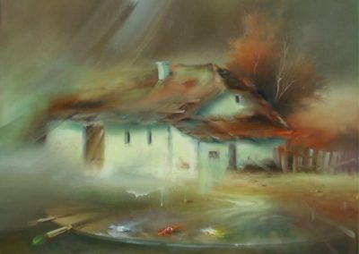 End of the village 70x80cm oil on canvas