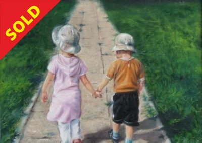 First love 60x50cm oil on canvas SOLD