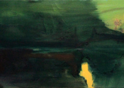 Forest and Water III. oil on canvas, 40 x 90 cm, 2016