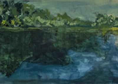 Forest and Water IV. oil on canvas 70 x 160 cm, 2017