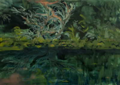 Forest and Water V. oil on canvas 95 x 145 cm, 2018