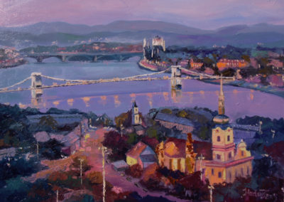 Budapest, Budapest you are wonderful, 60x80cm, oil on canvas