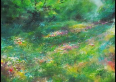 Meadow from my childhood, 70x70, acrylic on canvas